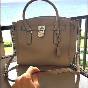 Michael Kors Tan Hamilton Bag Large Women's ladies